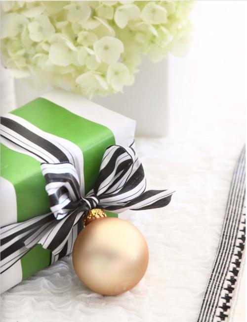 black and white christmas gift wrap