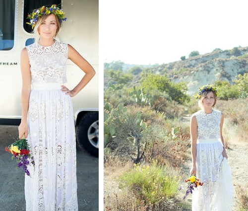 Relaxed Beach Wedding Dress